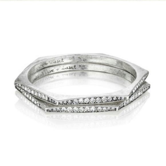 Chloe + Isabel Jewelry - Chloe + Isabel Medina Hexagon Silver Bangle Set